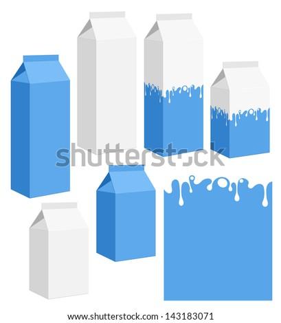 Milk - stock vector