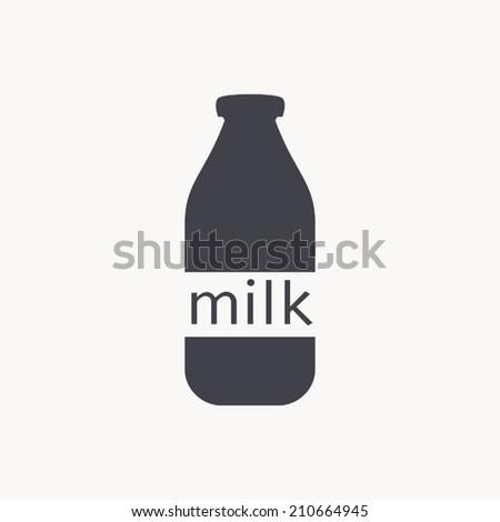 milk bottle icon , vector illustration - stock vector