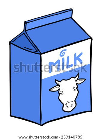milk box design - stock vector