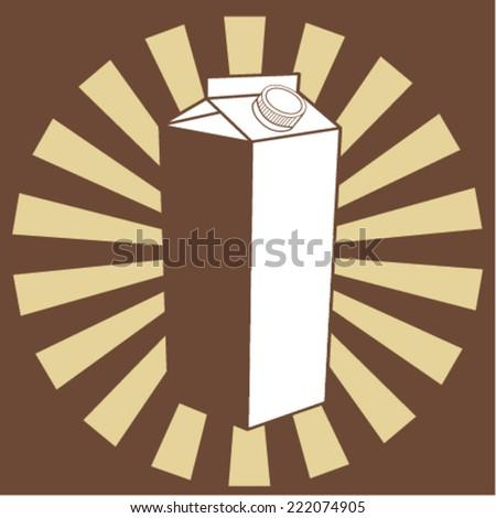 Milk box template - stock vector