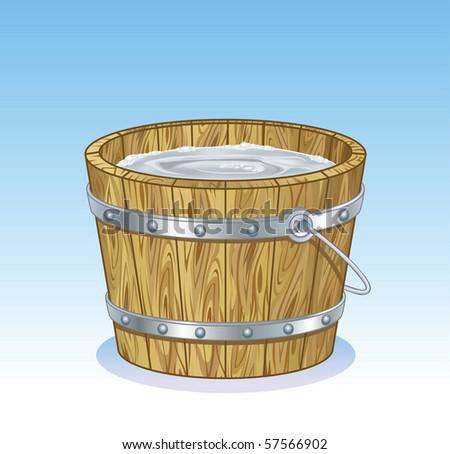 Milk Bucket - stock vector