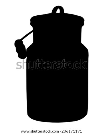 Milk can - stock vector