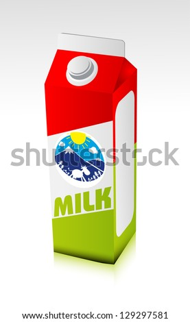Milk carton - stock vector