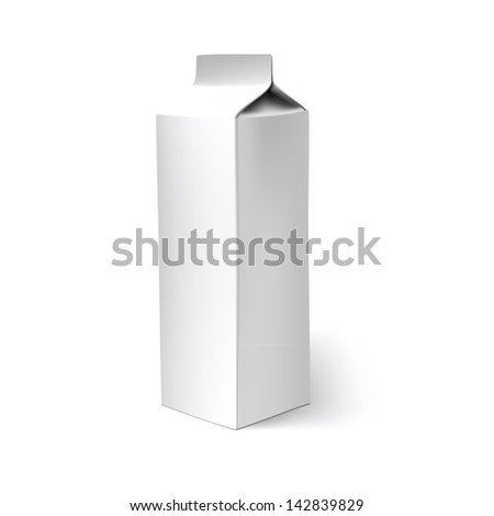 milk carton white box blank packaging pack design product illustration paper empty