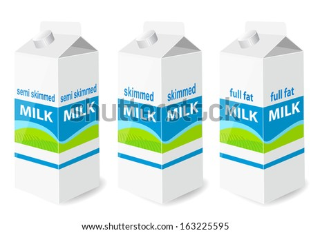 Milk carton with screw cap - stock vector
