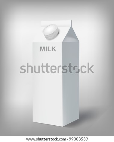 Milk Cartoon - stock vector
