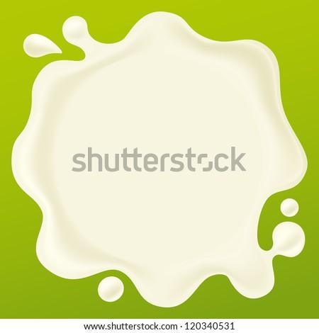 milk drop - stock vector