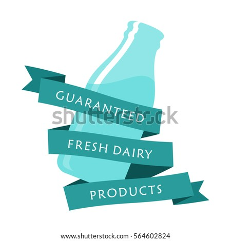 Milk Elegant Vector Logo Template Label Stock Vector 564602824