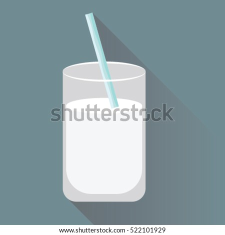 Milk flat icon with long shadow vector illustrator