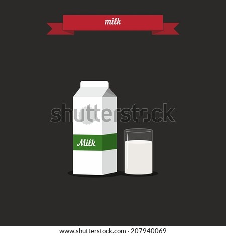 Milk. Flat style design - vector - stock vector