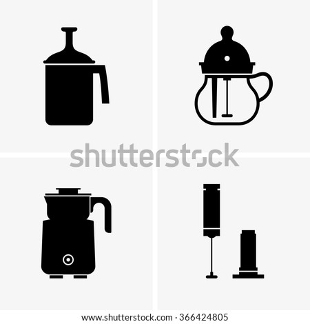 Milk frothers - stock vector