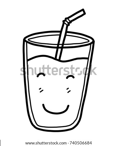 milk glass cartoon vector illustration black stock vector 2018 rh shutterstock com