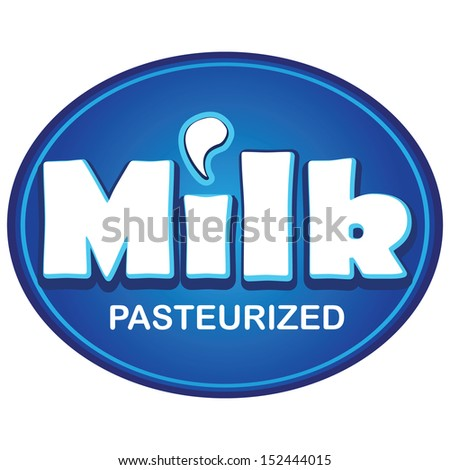 MILK hand lettering,handmade calligraphy,calligraphy with cow breast - stock vector