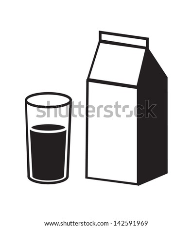 Milk icon isolated on white background, Vector illustration. - stock vector