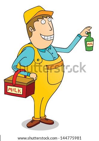 milk man - stock vector