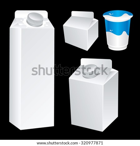 Milk packaging  - stock vector