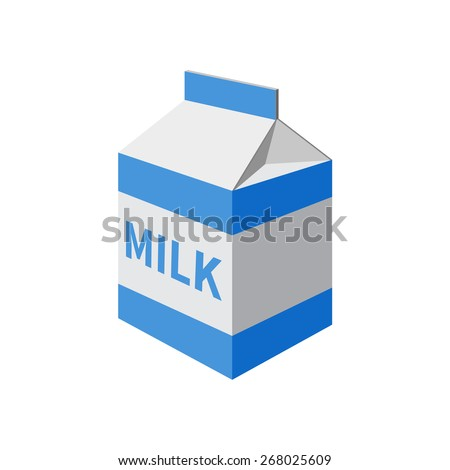 milk packet isolated on a  white background. Vector illustration. - stock vector