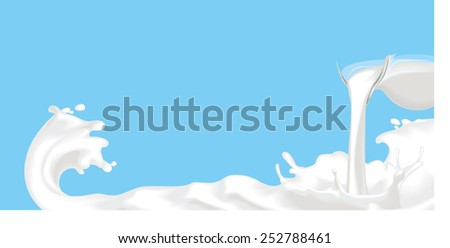 Milk Splash - stock vector