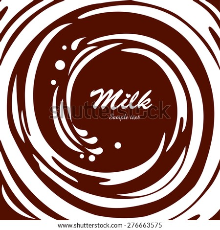 Milk swirl background. Vector Illustration - stock vector