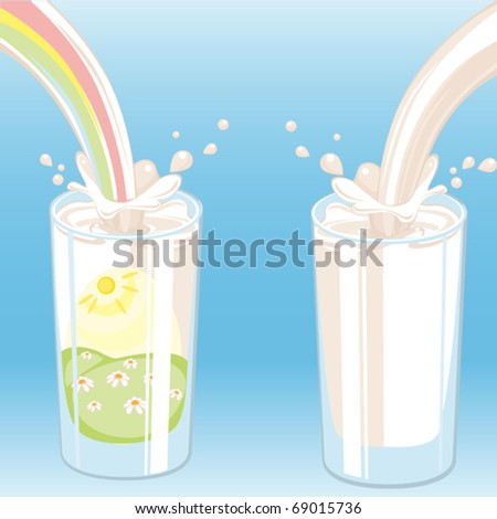 milk vektor. Similar in a portfolio - stock vector