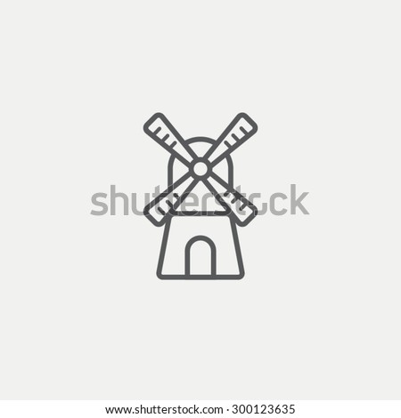 Mill icon - stock vector
