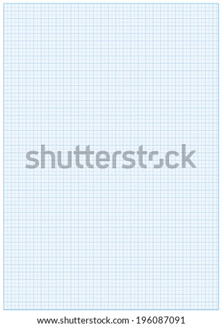 Millimeter paper A3 reel size sheet white background - stock vector