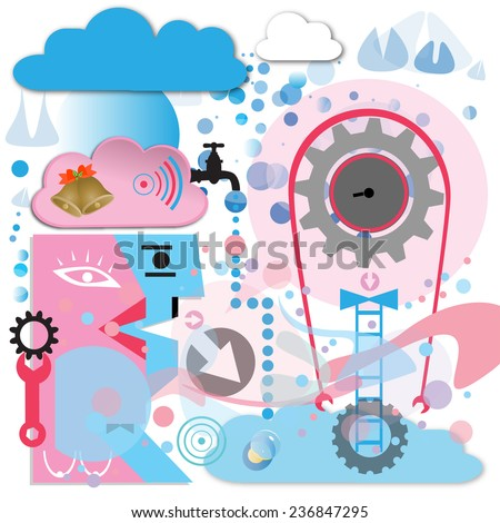 mind - stock vector