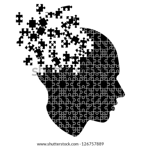 Mind exploding ideas, vector - stock vector