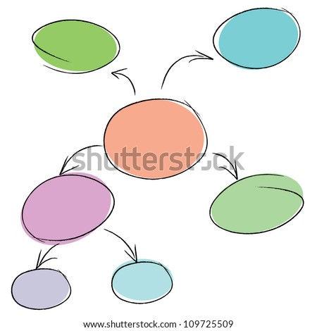 mind mapping sketch style - stock vector