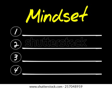 MINDSET blank list, business concept - stock vector