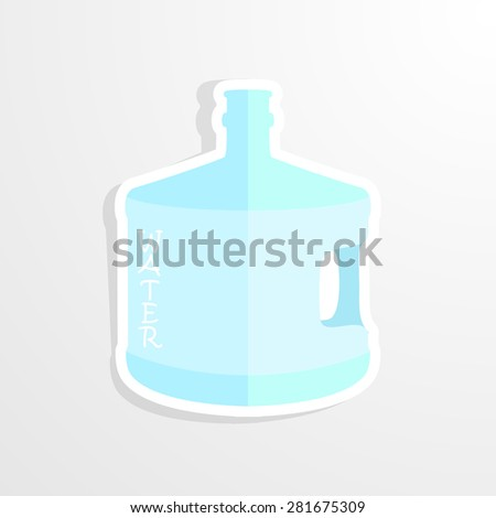 mineral water bottle isolated on white. Vector - stock vector