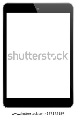 Mini Black Touch Screen Tablet In iPad Style - stock vector