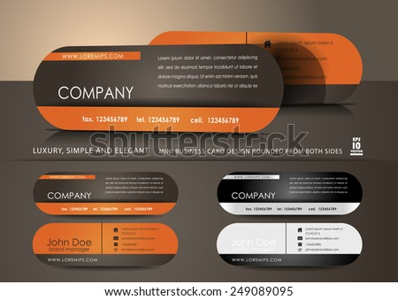 Mini business cards - stock vector