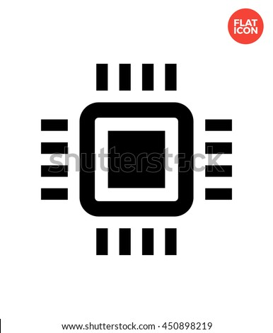 Mini CPU Icon Flat Style. Mobile CPU Vector. Mini CPU Isolated Icon. Phone CPU Illustration. Mini CPU Icon. Basic CPU Icon for Apps UI. Nano CPU Web Icon. Mini CPU Icon Template. - stock vector