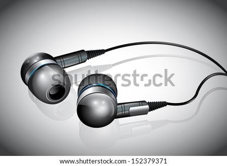 Mini Headphones - stock vector