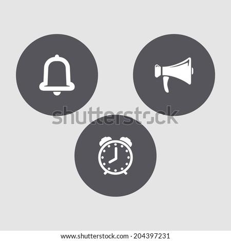 Mini set - sound labels. - stock vector