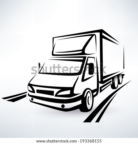 Cargo Trucks Heavy Trailers Moving On Stock Vector ...