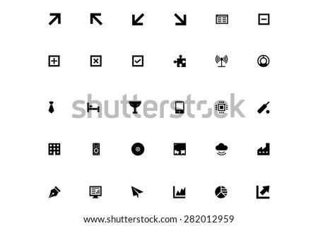 Mini Vector Icons 6 - stock vector