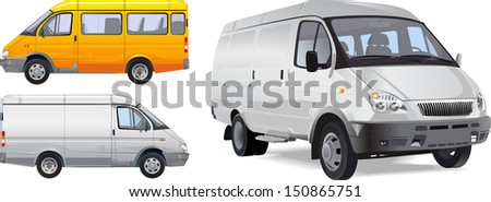 minibus - stock vector