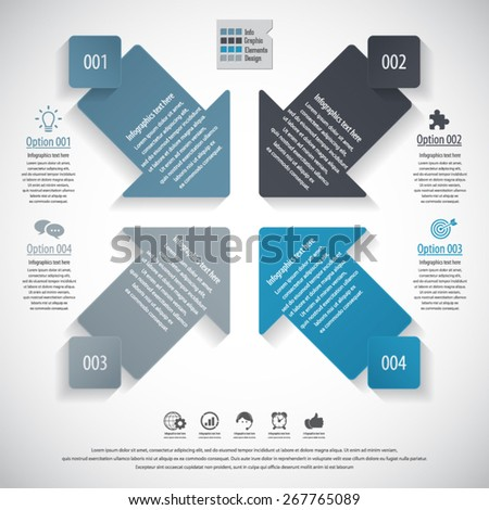 Minimal arrow infographics -EPS10 vector - stock vector