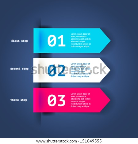 Minimal colorful infographics elements. Vector elements with dark blue background. Parts of infographic.