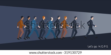 Minimal flat character of business dream concept illustrations