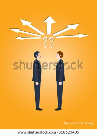 Minimal flat character of business strategy concept illustrations - stock vector
