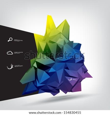 minimal infographic vector - cristal like design template - stock vector