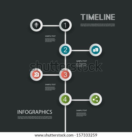 Minimal Infographics Design - Timeline - stock vector