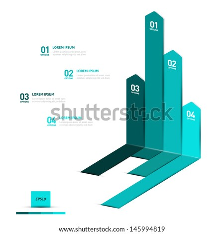 Minimal infographics design. Vector - stock vector