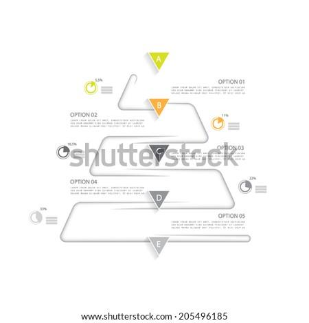 Minimal infographics template - stock vector