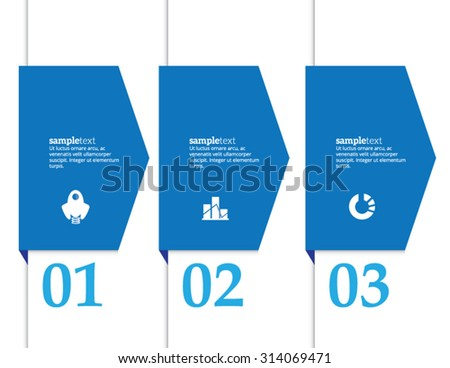 Minimal infographics. Vector banner can be used for workflow layout, diagram, number options, web design. - stock vector