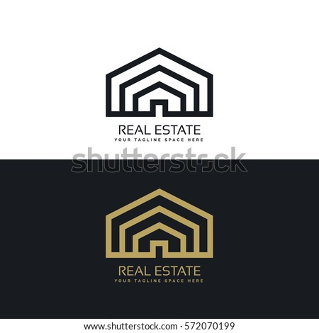 Simple line house symbol icon premium stock vector for Minimalist house logo