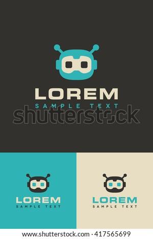 Minimal Logo - Droid - stock vector